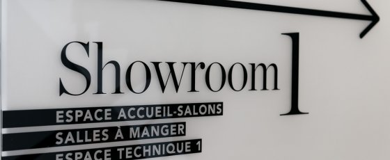 Showroom signalétique